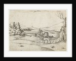 A Falconer in a Landscape by Monogrammist MS