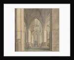 The Choir and North Ambulatory of the Church of Saint Bavo, Haarlem by Pieter Jansz. Saenredam