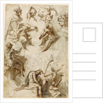 Studies of Figures and Architecture (recto), Figure Studies (verso) by Perino del Vaga