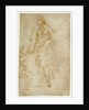 Female Figure with a Tibia, and Ornamental Studies (recto), Ornamental Studies (verso) by Raphael