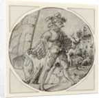 A Standard-Bearer before a Castle by Master of the Berlin Roundels