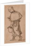A Peasant Woman Carrying a Jug by Sebald Beham
