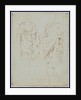 Two Studies of an Ancient Statue (recto), Scylla and a Centaur (verso) by Nicolas Poussin