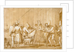 Punchinello is Helped to a Chair by Giovanni Domenico Tiepolo