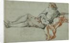 Reclining Male Figure by François Boucher