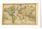 Map of the world 1836, 19th century by Anonymous