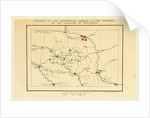 History of the Campaign in France in the year 1814, Opening of the campaign by Napoleon, map by Anonymous