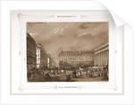 View from Place de la Bourse, Paris and surroundings by M. C. Philipon