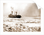 Car ferry turning in ice, Detroit River by Anonymous