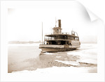 Detroit River ferry boat in ice, Excelsior (Ferry boat), 1880 by Anonymous