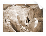 Crevasse formation in Illecillewaet Glacier, Selkirk Mountains by Anonymous