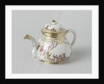 Teapot with lid, multicolor painted with chinoiserie, Meissener Porzellan Manufaktur, c. 1725 - c. 1730, Meissen Germany by Meissener Porzellan Manufaktur