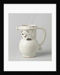 Puzzle jug, Fopkan on stand ring with worked neck and C-shaped ear. Undecorated by Anonymous