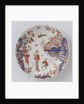 Round dish polychrome painted earthenware with Japanese decor by Anonymous
