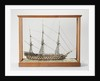 Full model liner, three-masted, with 76 segments to the waterline by Anonymous