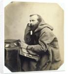 Genre Portrait of a monk by Louis Wegner