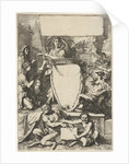 Cartouche surrounded by allegorical figures by Gerard de Lairesse