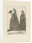 Two wealthy women dressed in the Venetian fashion, Anonymous by Johannes Covens en Cornelis Mortier Pieter Lastman