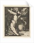 A triton blowing a conch, Jacob de Gheyn (III) by Hendrick Hondius I