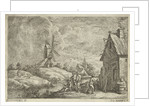 Landscape with tavern and a mill by Jan Lauwryn Krafft I