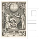 Minerva and two chained figures, Reinier van Persijn by Adriaen Wijngaerden