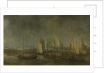 Battle on the Slaak between the Dutch and Spanish Fleets in the Night of 12-13 September 1631 by Simon de Vlieger
