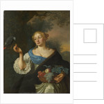 A young Woman with a Parrot by Ary de Vois