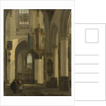 Interior of a Protestant Gothic Church with Motifs from the Old and New Church in Amsterdam by Emanuel de Witte