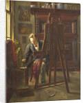 The painter George Jan Hendrik Poggenbeek, 1854-1903 at his studio by Theo Hanrath