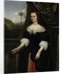 Portrait of Dina Lems, Wife of Jan Valckenburgh by Daniel Vertangen