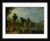 Village on the Bank of a River by Joseph van Bredael