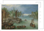 View of a City along a River by Jan Brueghel I