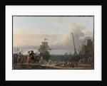 Dutch Ships at anchorage at Texel, in the middle the Golden Lion, the Flagship of Cornelis Tromp, The Netherlands by Ludolf Bakhuysen