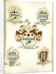 The coat of arms of a female member of the Ockersse family, married to Van Gelre and mother of Anna Digna van Gelre by Anonymous