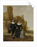 Portrait of a Family Group in a Landscape by Herman Meynderts Doncker