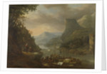 River view in a mountainous region by Herman Saftleven