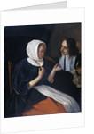 A couple drinking by Jan Havicksz. Steen