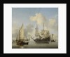 Ships at Anchor on the Coast by Willem van de Velde II