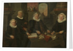 Three Regentesses and the 'House Mother' of the Amsterdam Lepers' Asylum by Werner van den Valckert