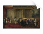 Reception of Cornelis Hop as Ambassador of the States General to the Court of Louis XV, 24 July 1719 by Louis-Michel Dumesnil
