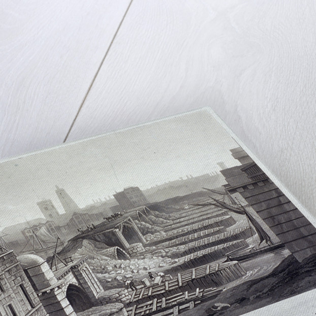 London Bridge (old), London by Henry Pyall
