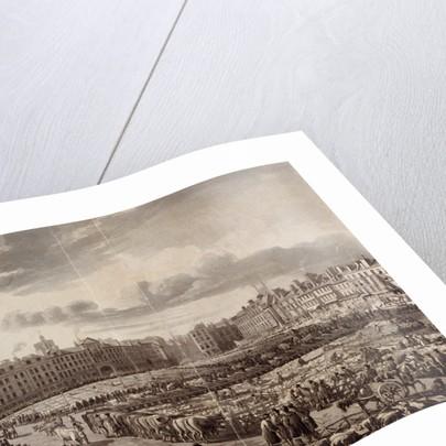 Smithfield Market, London, 1811 by J Bluck