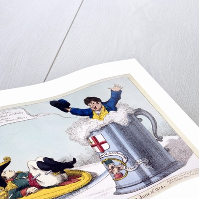 Napoleon on a plate ready to be carved by Anonymous