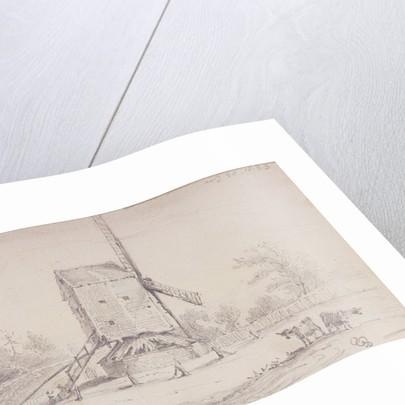 View of windmill on Blackheath, Greenwich, London by George Shepheard