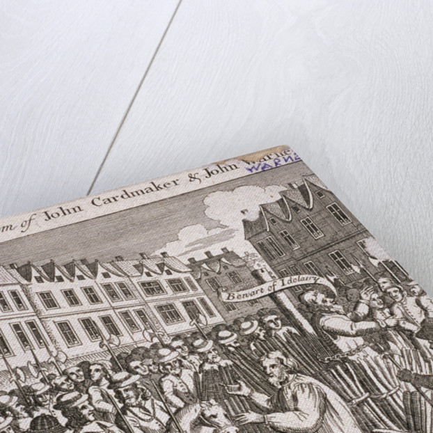 The execution of John Cardmaker and John Warne at Smithfield, 1555 by Anonymous