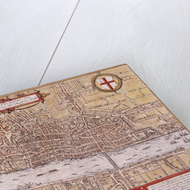 Map of the City of London, Southwark and part of Westminster by Franz Hogenberg