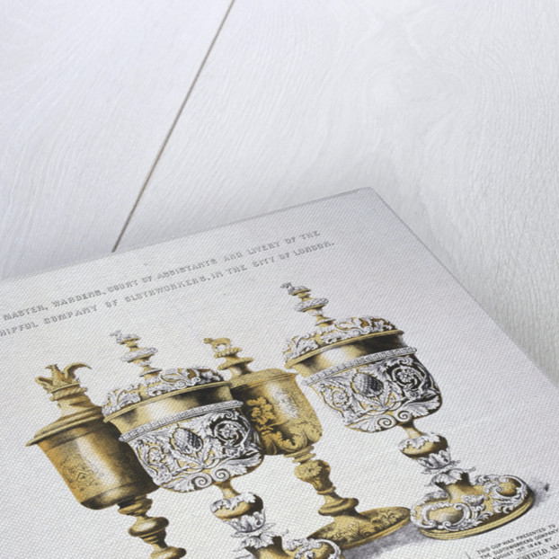 Four ornate cups belonging to the Clothworkers' Company by Sanderson & Co