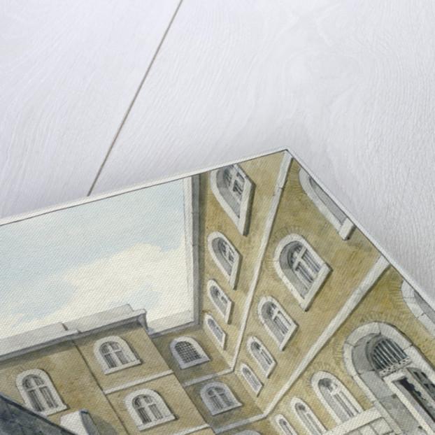 The chapel yard in Newgate Prison, Old Bailey, Newgate Prison, Old Bailey, City of London by