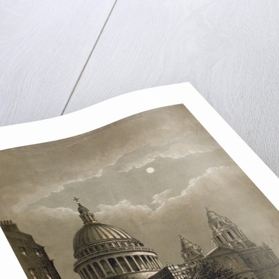 North-east view of St Paul's Cathedral by moonlight, City of London by Anonymous