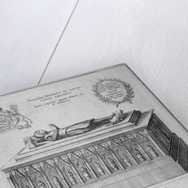 Monument of Henry de Lacy, Earl of Lincoln, in the old St Paul's Cathedral, City of London by Wenceslaus Hollar